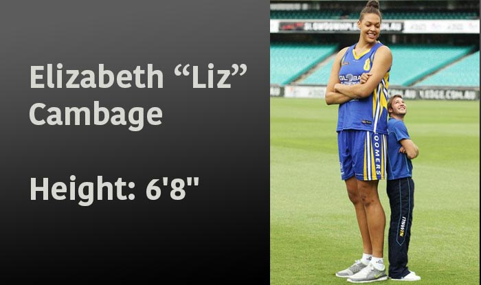 "Elizabeth ""Liz"" Cambage - tallest female basketball players"